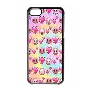 DIY iPhone 5C Case, Cute pig emoji quote Customized Phone Case
