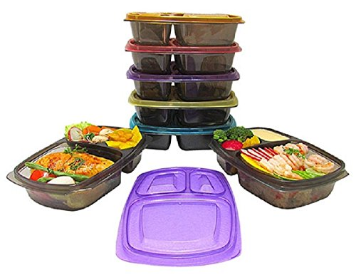 bento lunch box portion control food storage containers for meal prep 21 da. Black Bedroom Furniture Sets. Home Design Ideas