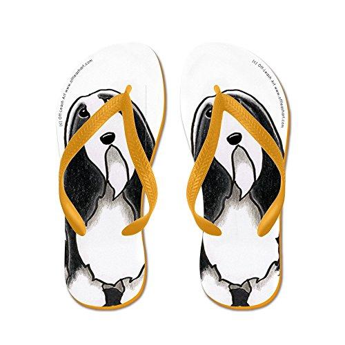 CafePress beardie Cartoon - Flip Flops, Funny Thong Sandals, Beach Sandals Orange