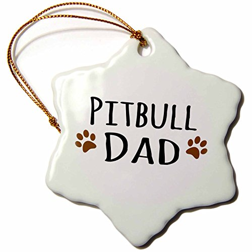 3dRose orn 153961 1 Dad Doggie Breed Muddy Prints Proud
