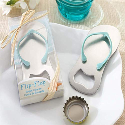 (Party Gift - Beach Flip Flops Bottle Opener Corkscrew Bridal Shower Wedding Favors Party Gift Shoes Keychain - Women Starfish High Bridesmaid Beer Beach Christmas Paper Mermaid Keychain Shoe )