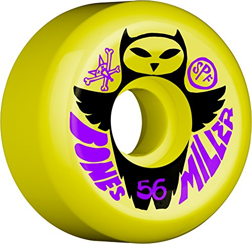 ダイエットグラマー苛性Bones Wheels Miller Owl Skateboard Wheels, 56mm by Bones Wheels