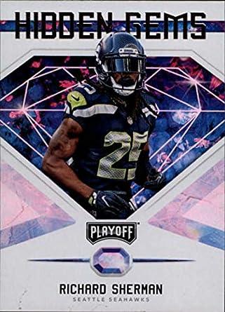2018 Playoff NFL Hidden Gems  3 Richard Sherman Seattle Seahawks Official  Panini Football Trading Card 0fe006314