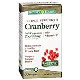 Nature's Bounty Triple Strength Cranberry with Vitamin C, 60 Softgels (Pack of 6)