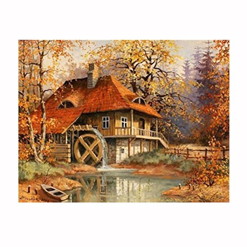 5D Home Decoration,Woaills Rhinestone Pasted DIY Cross Stitch Autumn Winter Paintings Mural Decal Decors ()