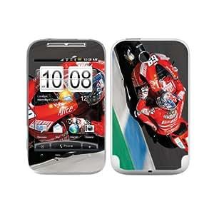 B 0063-0021-0009 Diabloskinz Hayden lean Skin para el HTC Wildfire S