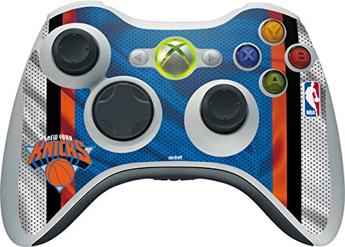 NBA New York Knicks Xbox 360 Wireless Controller Skin - New York Knicks Away Jersey Vinyl Decal Skin For Your Xbox 360 Wireless Controller by Skinit