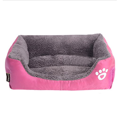 Resistant Colour (Bestware Reversible Rectangle Pet Bed, Bite-Resistant,Comfortable Bed Three Sizes With More Colors Available For Dogs Sleeping/Staying Rose Red)