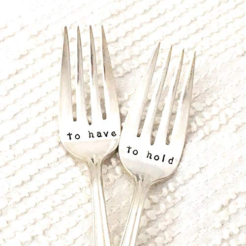 - To have & To hold wedding cake forks