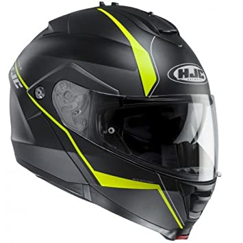 Casco de moto HJC IS Max II Mine MC4HSF, negro/amarillo, tamaño L