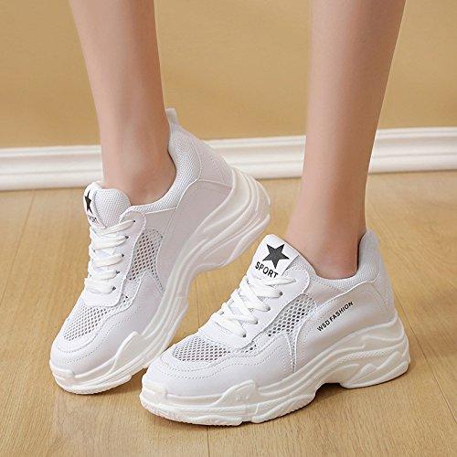 Donna NGRDX amp;G A Sneakers White Rete Piattaforma Cava Con Traspirante Per xSUCS7g