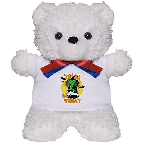 Teddy Bear White Halloween Trick Treat Witch ()