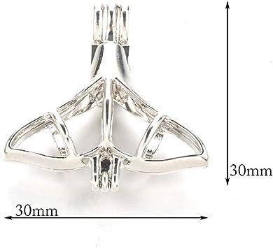40 Argent Médaillon Collier Parfum Huile Essentielle Aromathérapie Diffuseur Pendentif