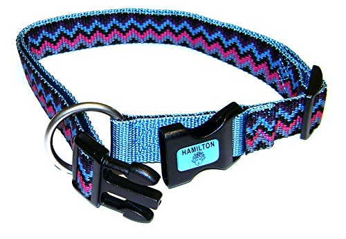 Adjustable Collar Dog Hamilton Nylon - Hamilton Adjustable Dog Collar with Brushed Hardware