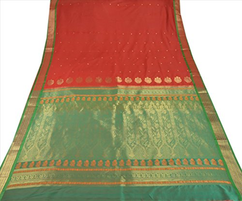 Skirts 'N Scarves Women's ArtSilk Pallu Saree with Blouse Piece (Red) - Net Sarees In India