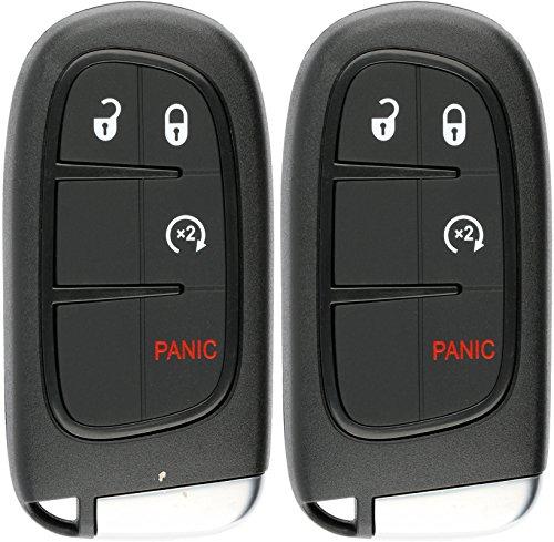 KeylessOption Keyless Entry Remote Start Smart Car Key Fob Alarm for Ram 1500, 2500, 3500, GQ4-54T (Pack of 2) by KeylessOption
