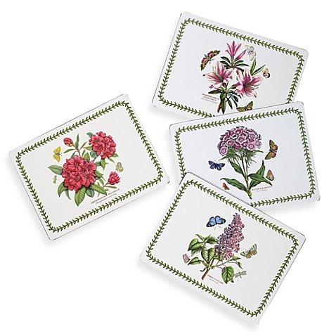 Portmeirion Botanic Gardenハードカバープレースマット(Set of 4 )   B078X48947