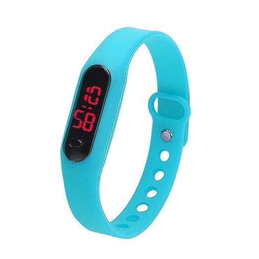 9 opinioni per Demiawaking, orologio sportivo digitale con cinturino, in silicone, unisex, per