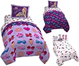JoJo Siwa 6pc FULL Size Bedding - Twin/Full REVERSIBLE Comforter, Pillow Sham and 4pc FULL Size Sheet Set