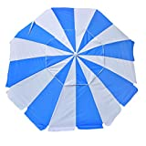 Shadezilla 7.5 ft. Wind Resistant Beach Umbrella with Dual Steel Rib Structure UPF 100, Carry Bag, Accessory Hanging Hook