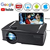 Wireless Projector 2800 Lumen, WEILIANTE WiFi LCD Mini Movie Projector for Home Outdoors, WiFi Directly Connect with Smartphones, 50000 Hours Lamp Life, Support Full HD, HDMI,VGA,AV,USB,SD