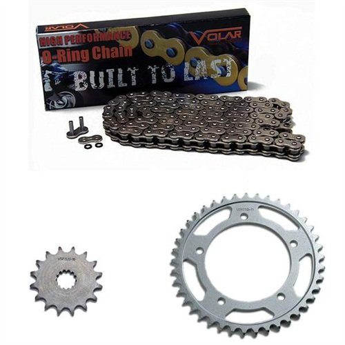 1980-1982 Suzuki GS450 ET EX EZ O-Ring Chain and Sprocket Kit - Nickel (530 Nickel Plated O-ring Chain)