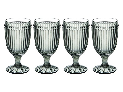 Mikasa Italian Countryside Iced Beverage Glass, Smoke, 13-Ounce, Set of 4