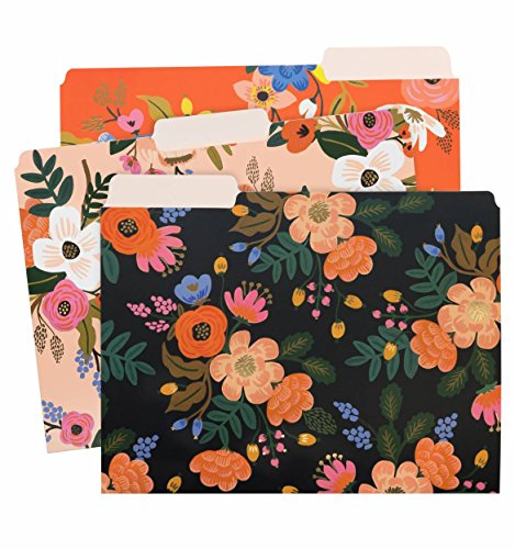 Lively Floral Letter Sized File Folders by Rifle Paper Co. -- 3 Styles ()