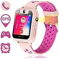 Reloj Inteligente para Niños, GPS/LBS para Niños Cumpleaños Presente Cámara SIM Llamadas Toque HD Pantalla Anti-pérdida…