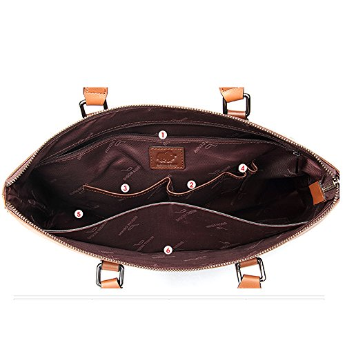 BINSON DENIM Herren Leder Aktentasche Herren Handtaschen Herren Umhängetasche Herren Laptop Tasche Hohe Qualität N2297