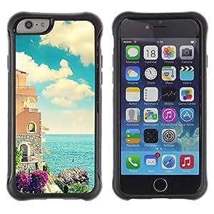Suave TPU GEL Carcasa Funda Silicona Blando Estuche Caso de protección (para) Apple Iphone 6 PLUS 5.5 / CECELL Phone case / / Sea Florence France Italy Seaside Calm Architecture /