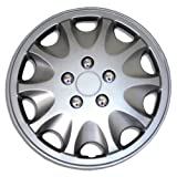 1996 ford ranger wheel cover - TuningPros WSC-028AS15 Hubcaps Wheel Skin Cover 15-Inches Silver Set of 4