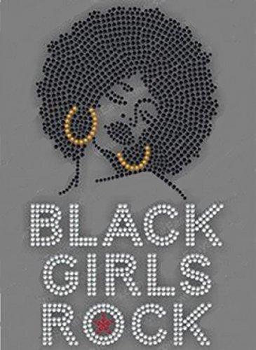 Black Girls Rock Rhinestone Iron on T Shirt Transfer