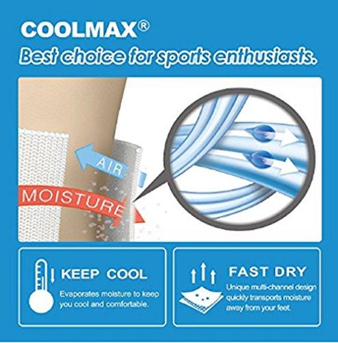 COOLMAX Unisex Quick Dry Athletic Crew Socks-5 Pairs (Medium, CMF8S) by COOLMAX (Image #3)