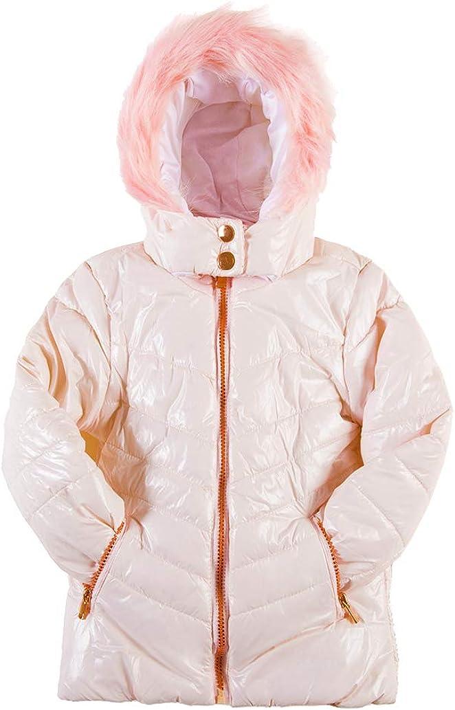 SNOW DREAMS Girls Winter Coat Ski Snow Jacket with Faux Fur Hood Puffy Waterproof Windproof Outerwear