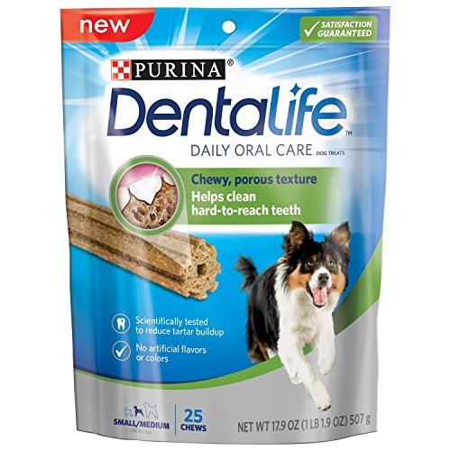Purina DentaLife Daily Oral Care Small/Medium Adult Dog Treats - 17.9 oz., 25 ct. Pouch
