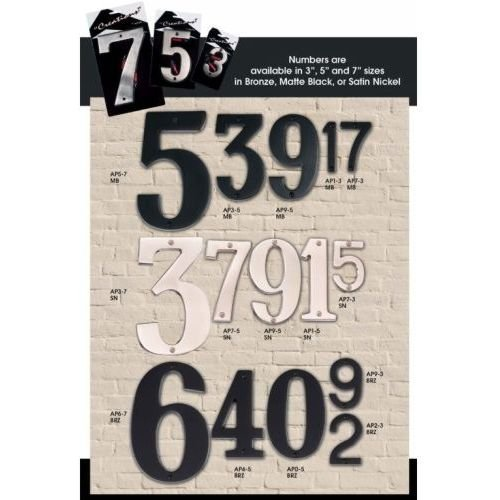 Alno AP0-7-BRZ Transitional House Numbers, 7'', Bronze