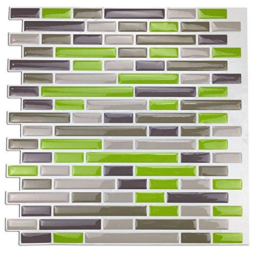 Art3d A17046 Peel and Stick Kitchen Backsplash Sticker (10 Tiles), 12