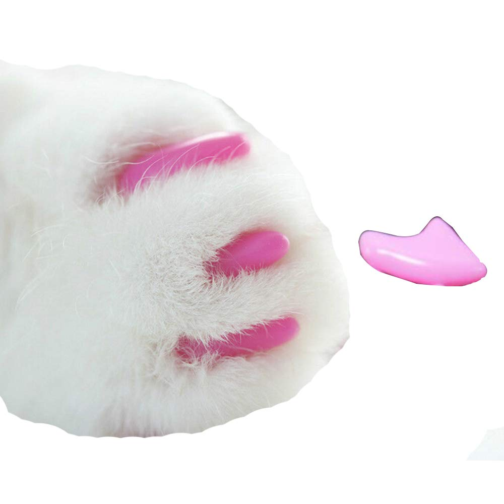 Pet Cat Nail Caps Cats Paws Grooming Nail Claws Caps Covers Easy to Wear Not Easy to Fall Off Wear Resistant Soft colorful Environmentally Friendly Materials