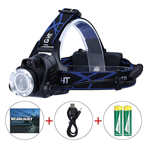 System Headlamp (Zoomable Headlamp 3 Modes,DUMean Super Bright 90 Degree Waterproof IR Motion Sensor Rechargeable Headlamp LED Headlight for Travel Camping Cycling)