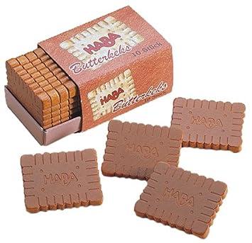 Haba 1381 - Cajas de galletas de madera para mercado de juguete: Amazon.es: Juguetes y juegos