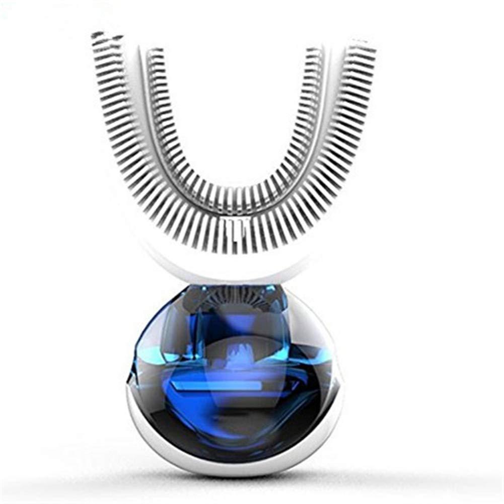 完全自動電気歯ブラシ超音波360度インテリジェント自動歯ブラシと食品級静菌性シリカゲル歯ブラシMAG.AL  White B07G9FPVN4