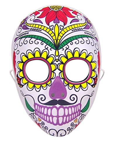 Day of the Dead Sugar Skull Senor Bones Plastic Mask]()