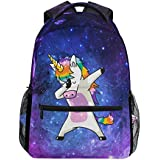 JSTEL Galaxy Unicorn School Backpacks For Girls Kids Elementary School Shoulder Bag Bookbag