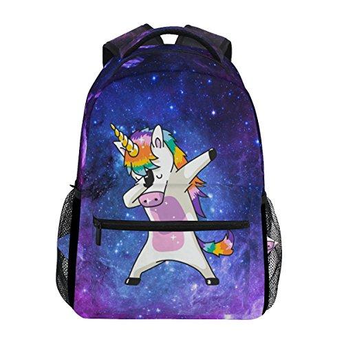 JSTEL Galaxy Unicorn School Backpacks For Girls Kids Elementary School Shoulder Bag Bookbag