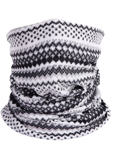Fashion Winter Fleece Scarf - Winter Men Black and White Striped Scarf Fashion Fleece Neck Warmer Soft Neckerchief multifunctional headgear