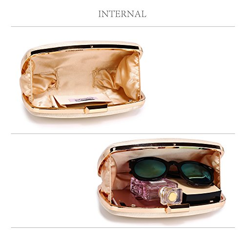 1 Satin Design Nude Stylish Clutch Evening Designer Handbag Case Hard New With Bag Chain Hardcase Box xUwd6TxS