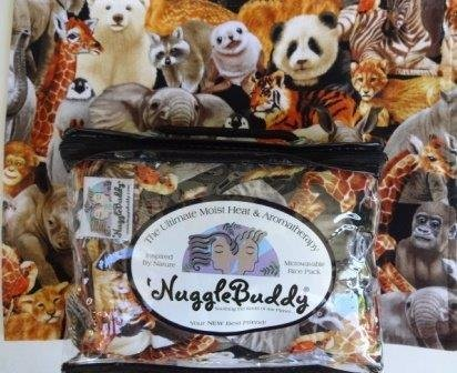 nugglebuddy-new-microwavable-moist-heat-aromatherapy-organic-rice-pack-cold-pack-darling-baby-animal