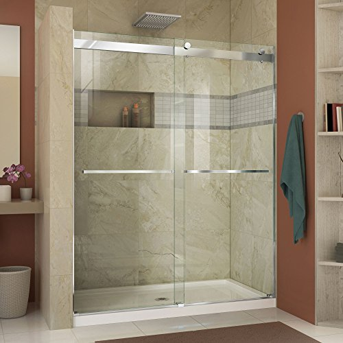 DreamLine Essence 56-60 in. Width, Frameless Bypass Sliding Shower Door, 5/16