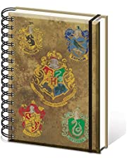 Writing Harry Potter Crests A5 Spiral Notebook, (SR72083)